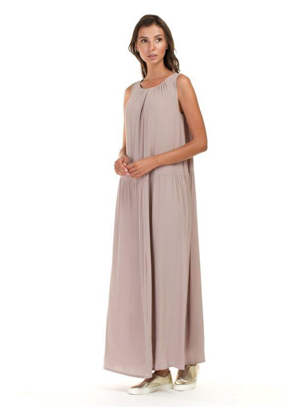 длинные вечерние платья в пол: романтическое свободный крой без рукава
