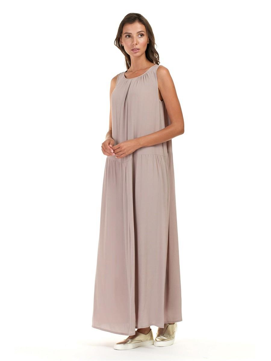 романтическое платье свободный крой без рукава