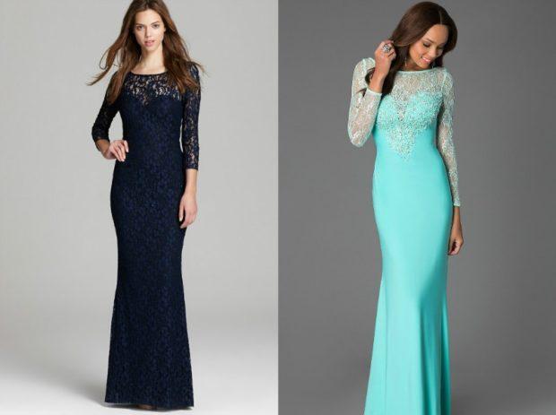 длинные вечерние платья в пол: по фигуре темно-синее ажурное бирюзовое ажурный верх