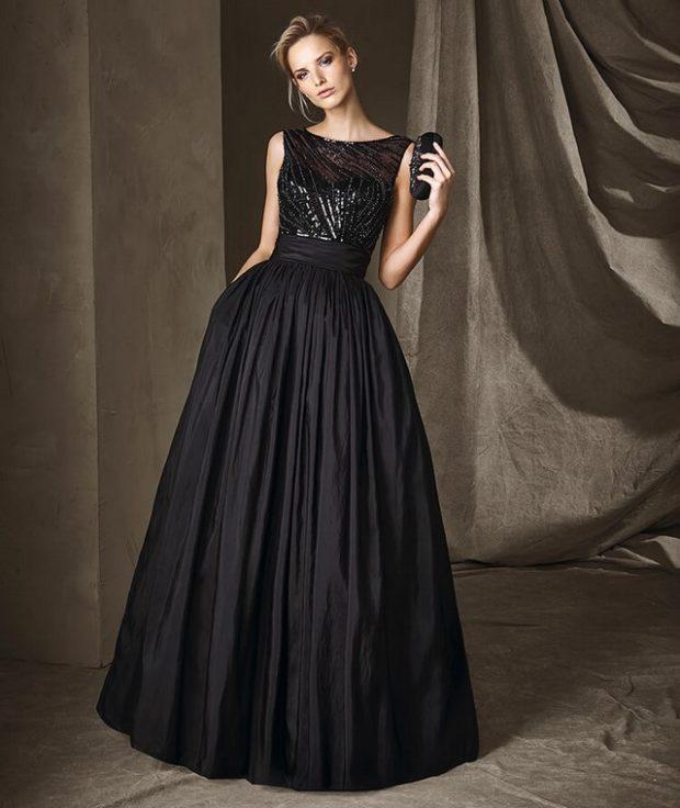 платье вечернее в пол черное без рукава