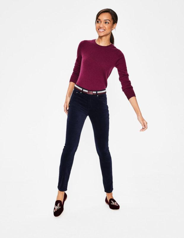 вельветовые джинсы с чем носить