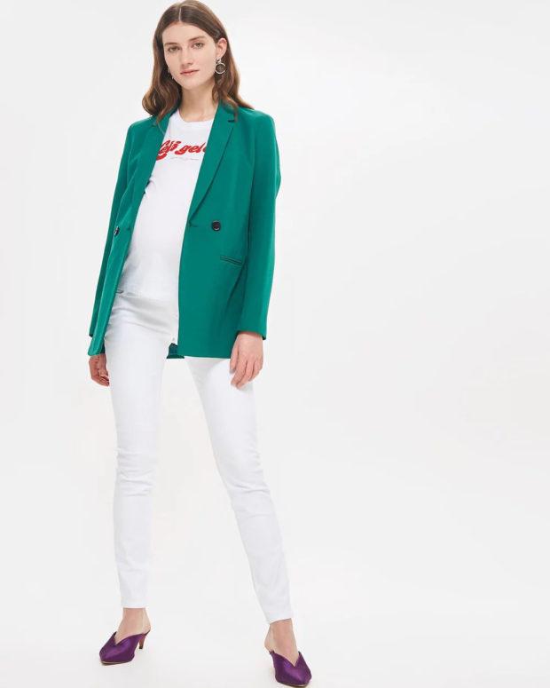 с чем носить белые джинсы 2018