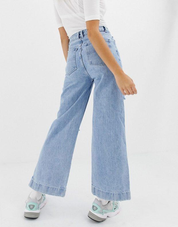 широкие джинсы женские 2018-2019