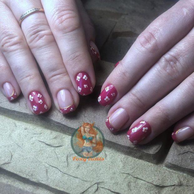 френч на ногтях фото 2018 новинки осень