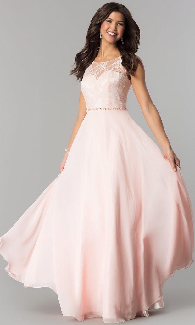 вечерние платья в пол: розовое пышное