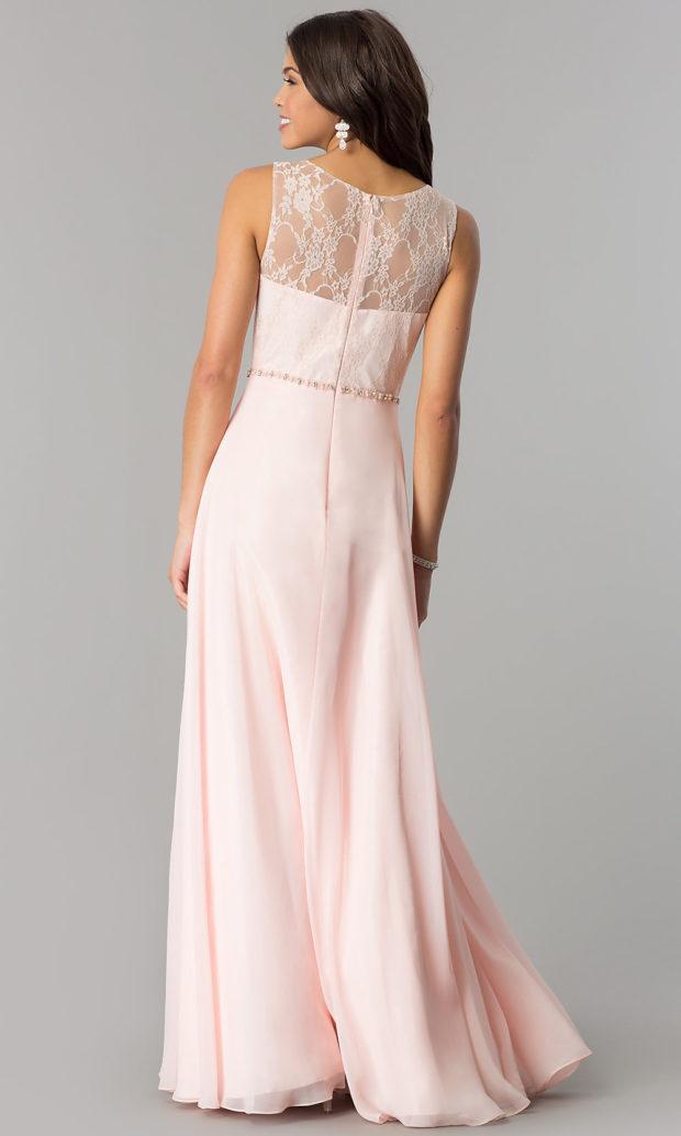 вечерние платья в пол: розовое