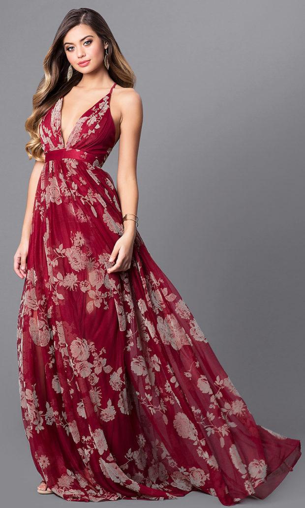 летние вечерние платья в пол