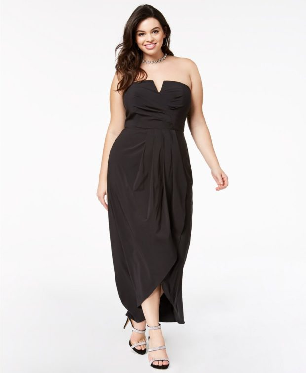 вечерние платья в пол для полных женщин