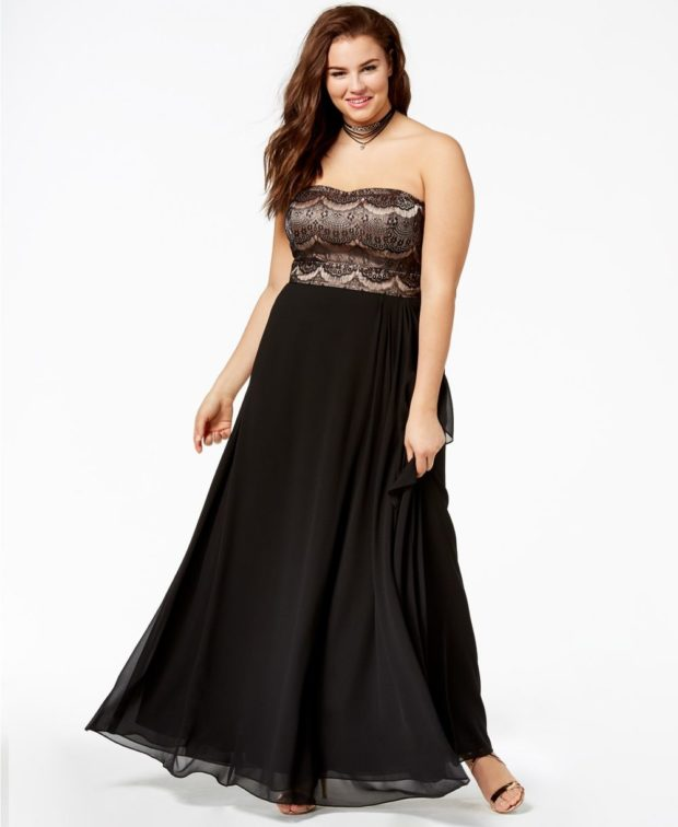 вечерние платья в пол для полненьких