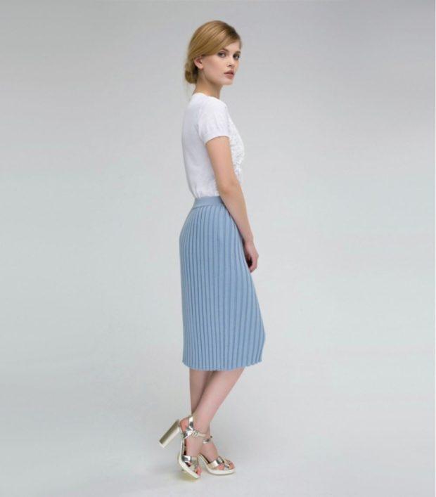 юбка плиссе с чем носить: кашемировая