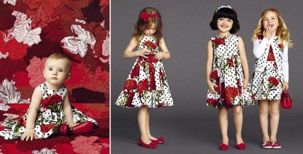 платья белые в горошек черный с цветами красными