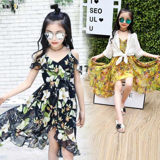 шифоновые платья черное а цветы желтое в цветы