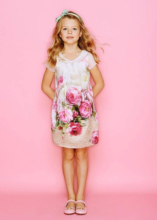 платье простое на каждый день в розы