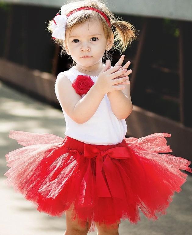 юбка пачка красная