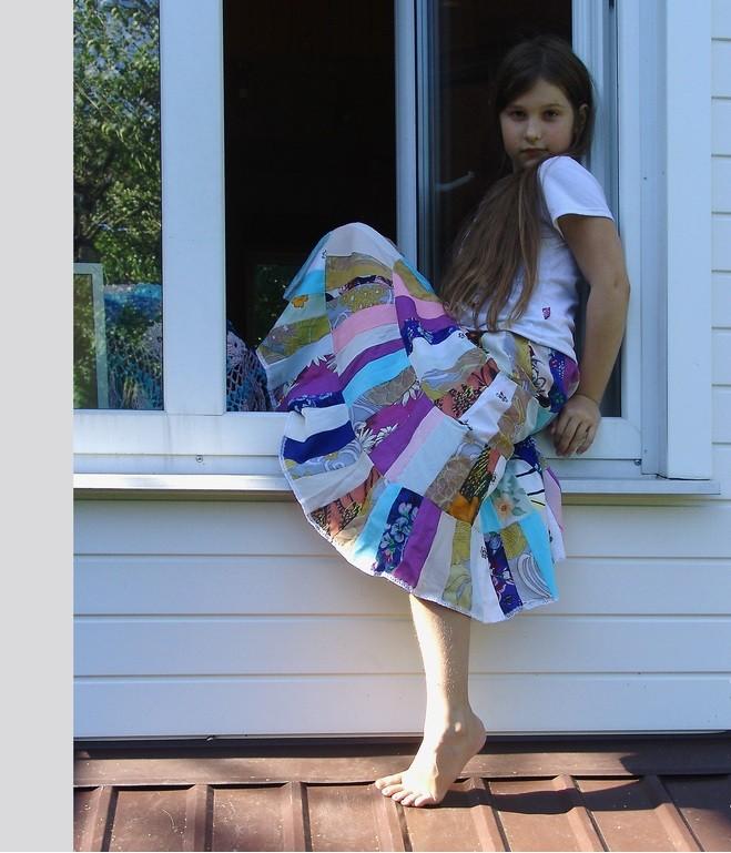 юбка с техникой пэтчворк