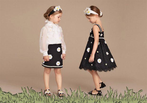 белая блуза черная юбка в ромашку сарафан в ромашку