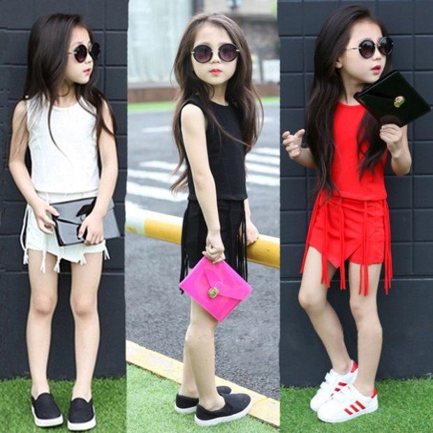 комплекты юбка майка белый черный красный