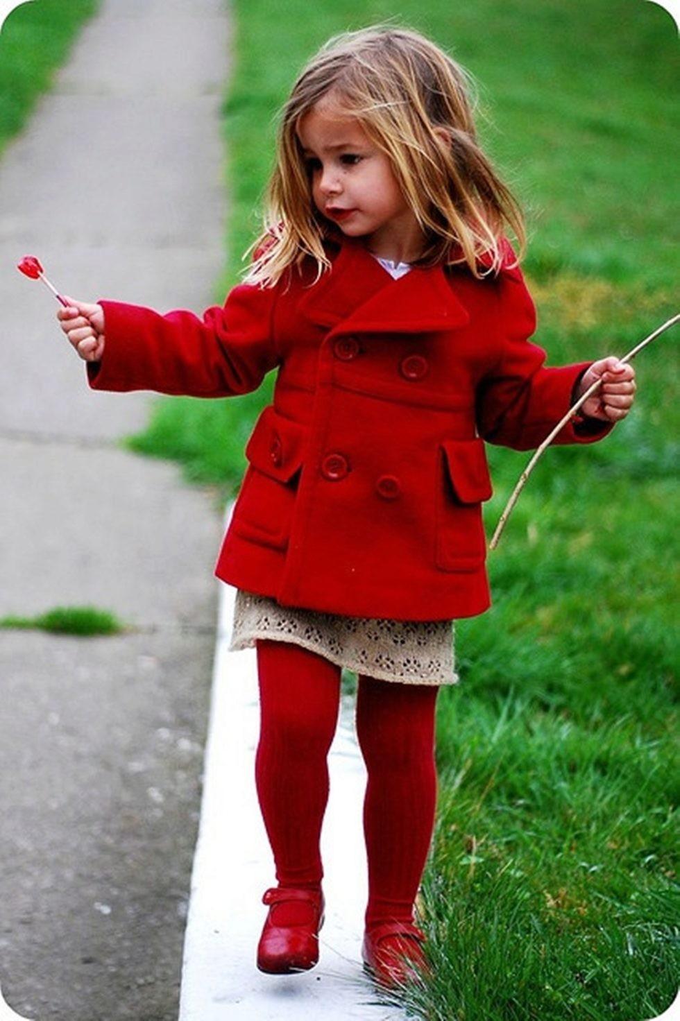 пальто шерстяное красное короткое