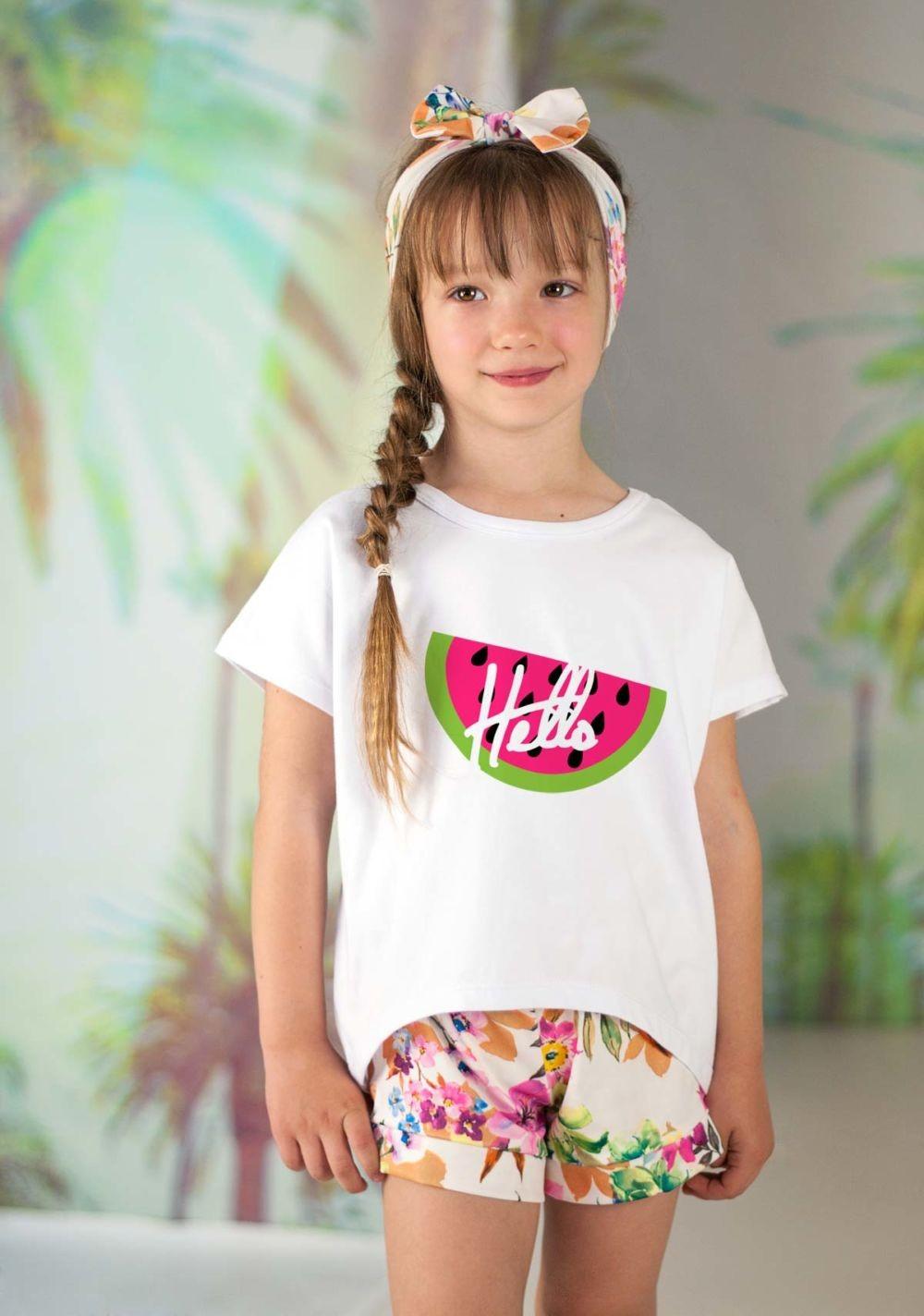 футболка для девочек оверсайз белая