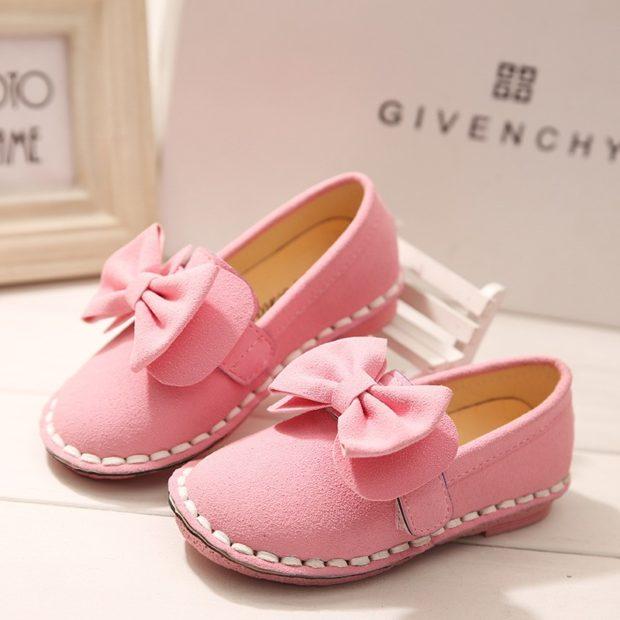 туфельки розовые с бантиком