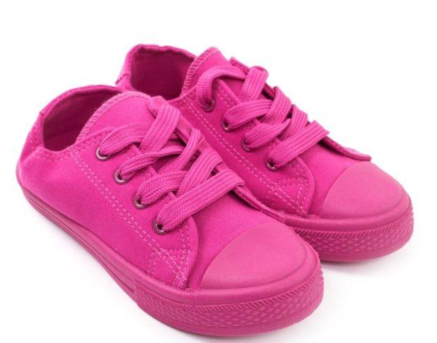 розовые кеды для девочки