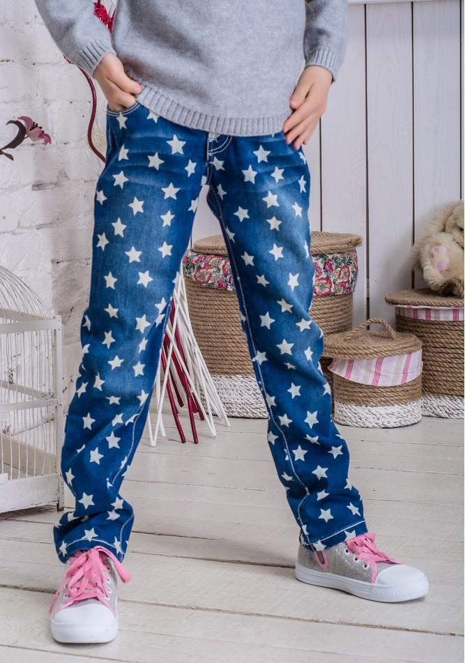 джинсы в звезды