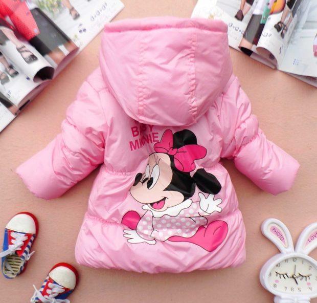куртка розовая с микки маусом