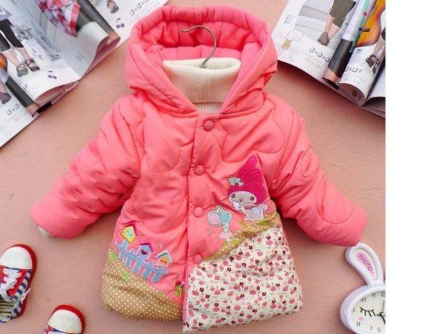 куртка розовая с мультяшками