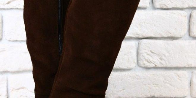 Коричневые сапоги: с чем носить? Фото модных трендов