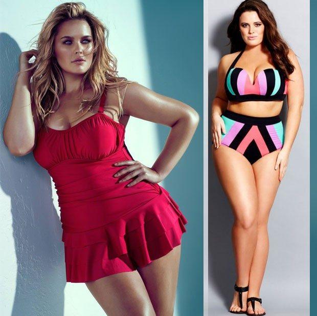 купальник-платье красный раздельный с высокими трусами геометрия