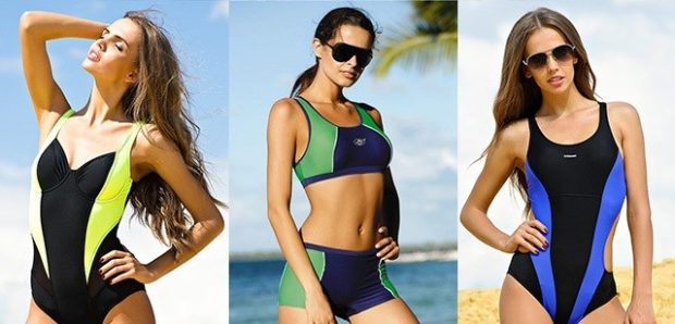 купальники спортивные цельный раздельный цельный яркие