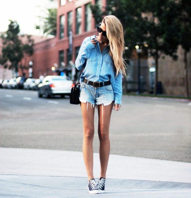 короткие джинсовые шортики