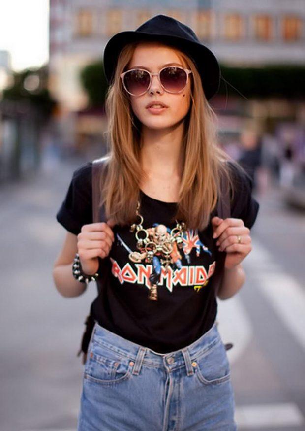 футболка черная с рисунком