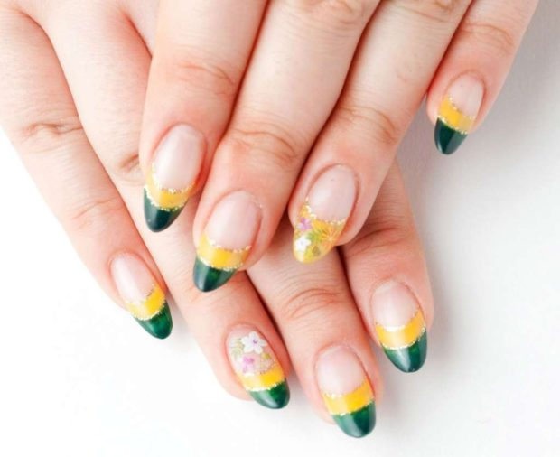 твист-френч желтый с зеленым