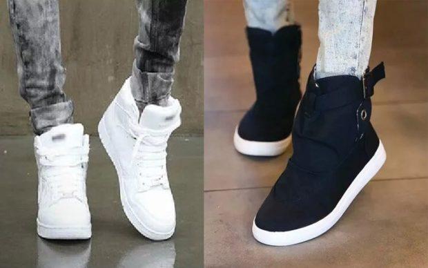 кроссовки белые черные