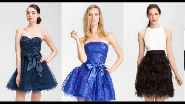 платья бюстье темно-синее синее белое с черным
