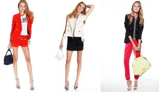 комплект шорты и жакет красные юбка черная и жилетка брюки красные и жакет черный
