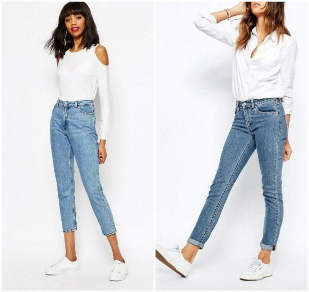 джинсы высокая талия под блузки