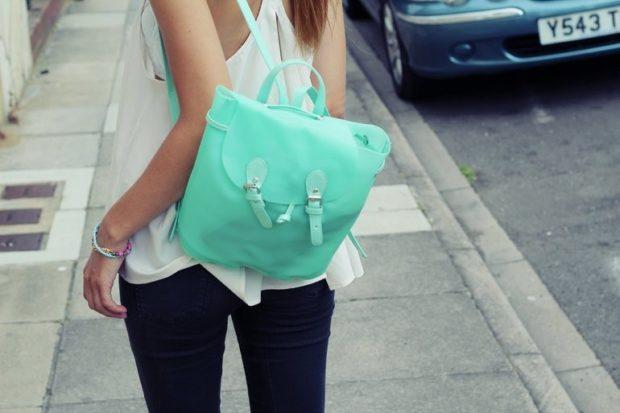рюкзак бирюзовый