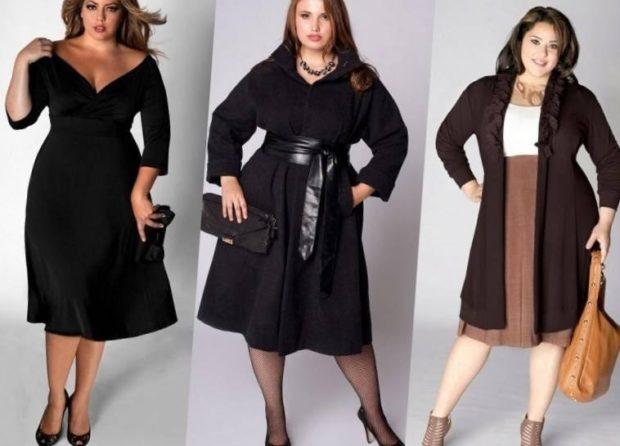 черное платье с широким поясом кожаным