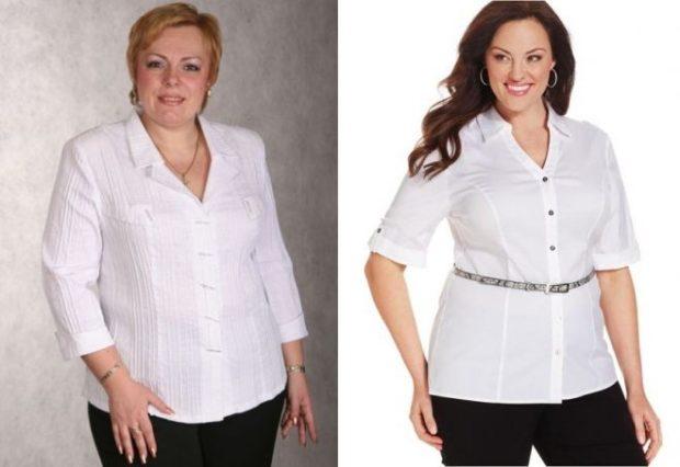 белые блузки с поясом