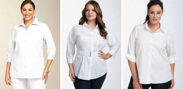 белая блузка и блузка с поясом
