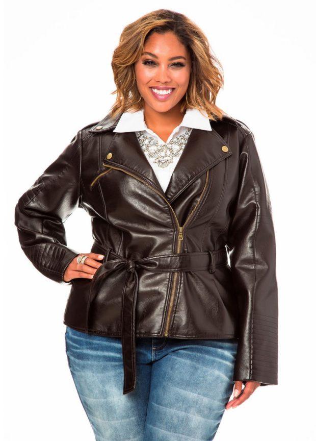 коричневая куртка косуха