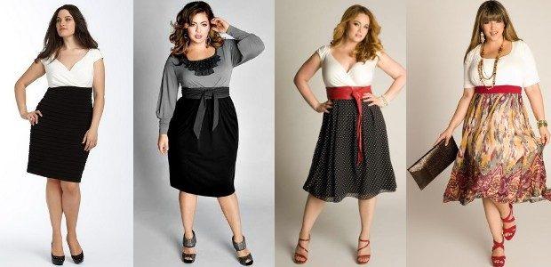 юбки для полных с широким поясом красного и черного цвета