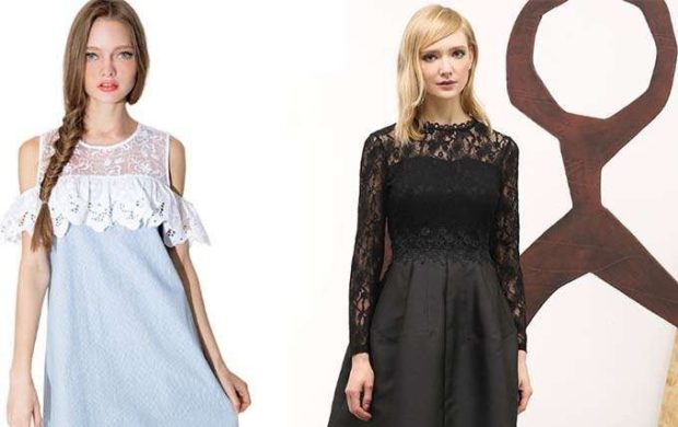 платье голубое верх гипюр открытые плечи черное с гипюровым верхом
