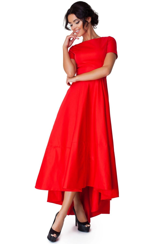 красные платье рукав короткий со шлейфом