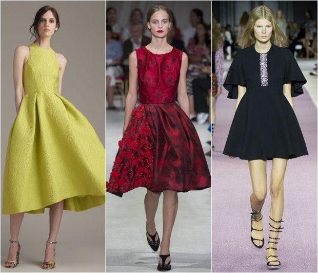 платья с пышными юбками салатовое красное миди черное короткое