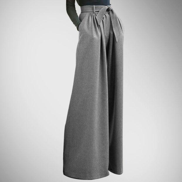 юбка-брюки серые весенние