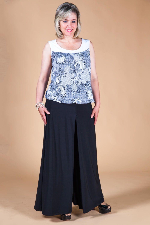 юбка-брюки черные широкие