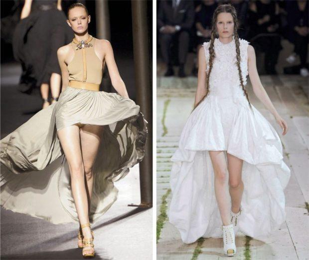 платье маллет светлое длинное белое буз рукава
